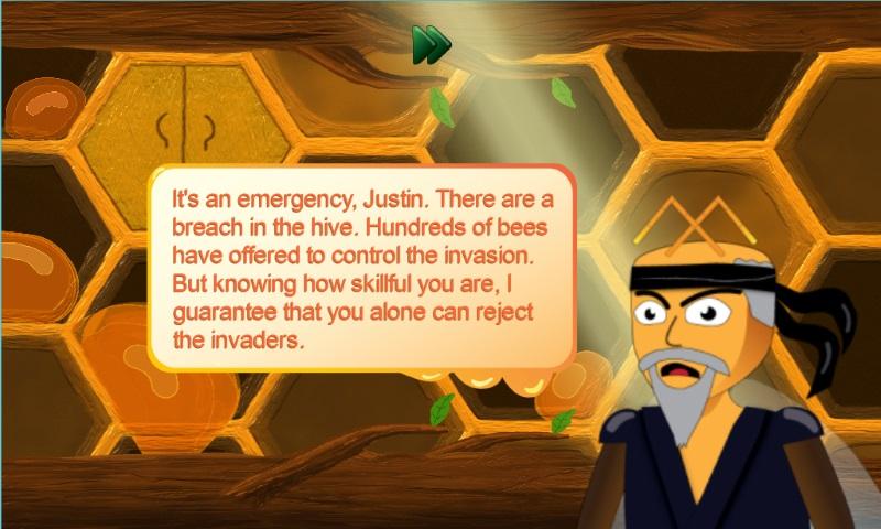 Justin the Bee - Ninja Game