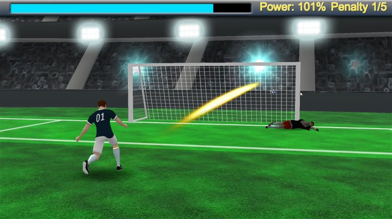 Soccer penalty game